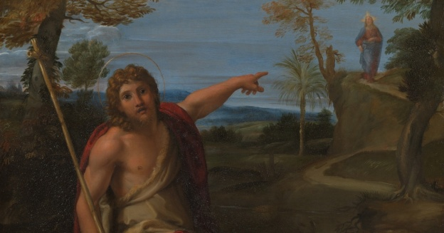 John the Baptist pointing to Christ