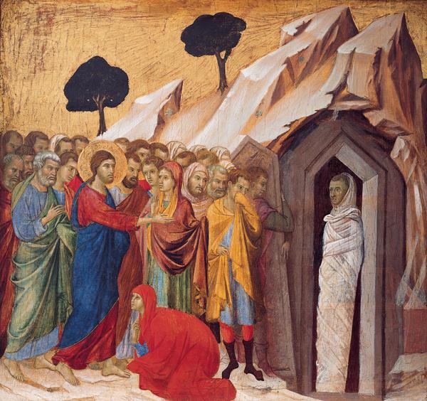 Duccio's Raising of Lazarus